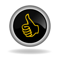 image of a thumbs up button